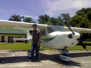 Carlo at Angara airport, Barangay San Luis, Baler.  May 11, 2008.