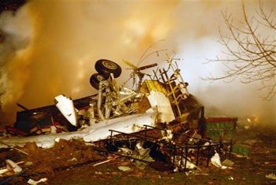 Colgan Air crash, Buffalo, NY, JFebruary 2007.  Photo FlightGlobal.